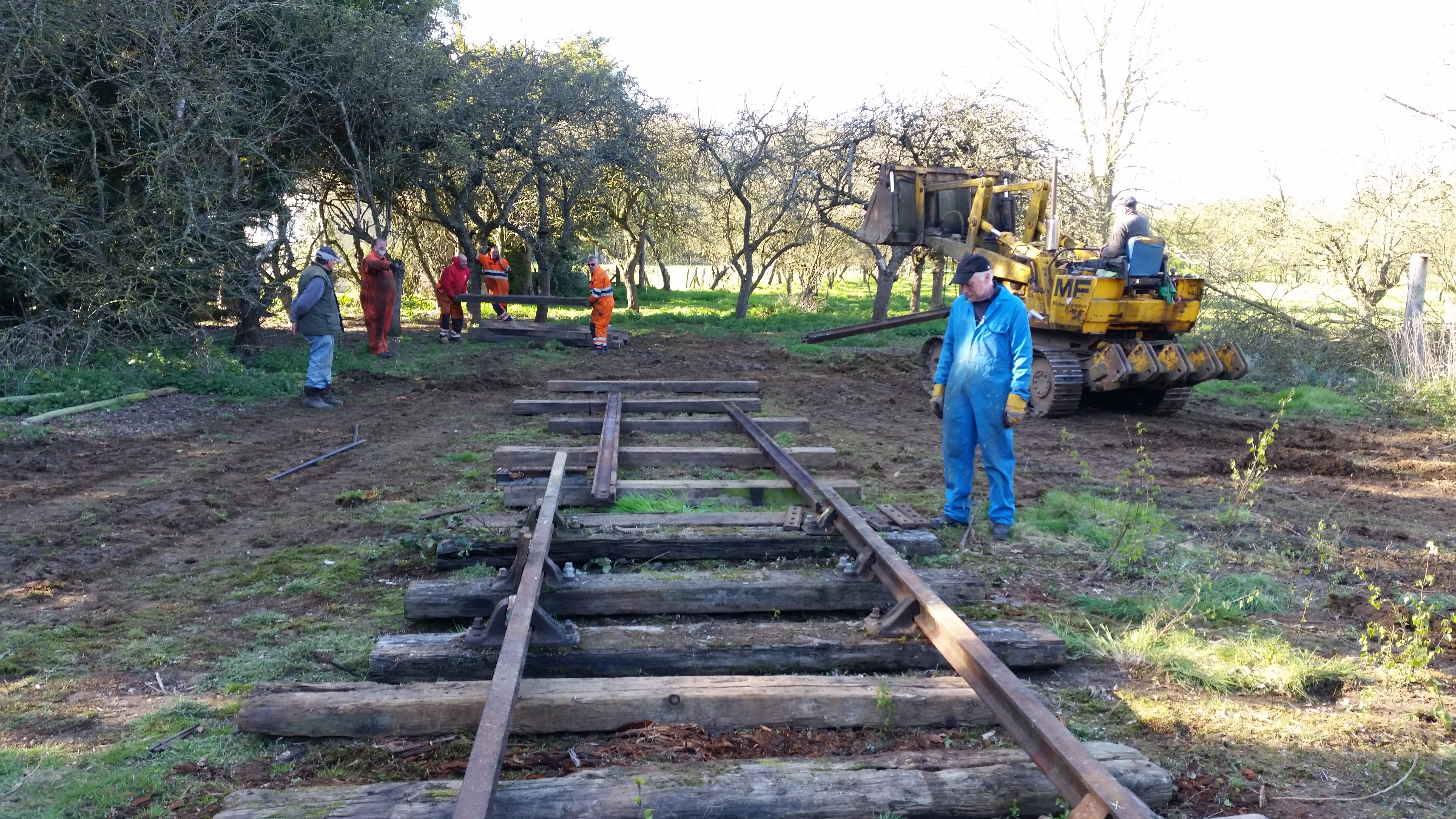 Realigning track to get Newstead to the lorry